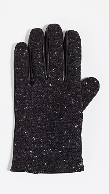 Club Monaco Mixed Media Gloves