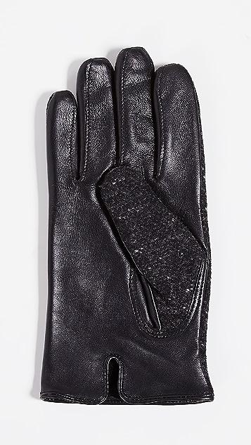 Club Monaco Mixed Media Gloves