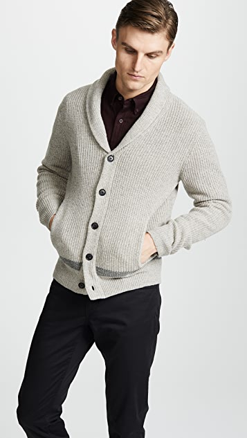Club Monaco Racked Shawl Cardigan