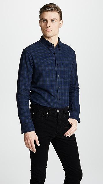 Club Monaco Jaspé Check Flannel Shirt