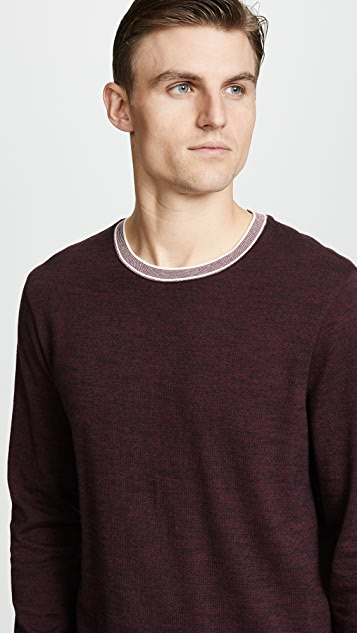 Club Monaco Tipped Marled Crew Sweater