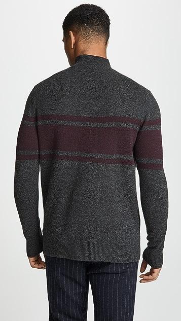 Club Monaco Felted Mock Neck Sweater