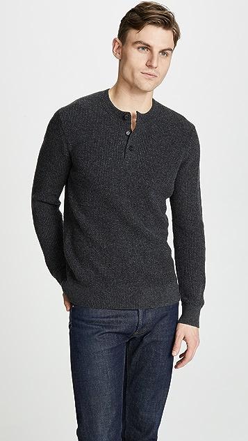 Club Monaco Plaited Henley Sweater