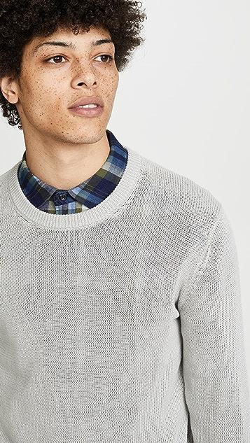 Club Monaco Plaited Linen Crew Neck Sweater