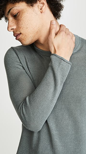 Club Monaco Plaited Linen Crew Neck Sweater
