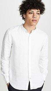 Club Monaco Band Collar Linen Shirt