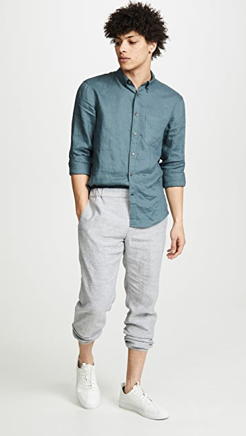 Club Monaco Lex Linen Trousers