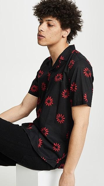 Club Monaco Pinwheel Print Shirt