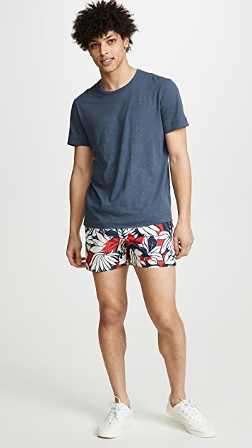 Club Monaco Arlen Tropical Leaf Swim Trunks