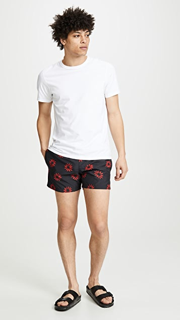 Club Monaco Arlen Pinwheel Swim Trunks