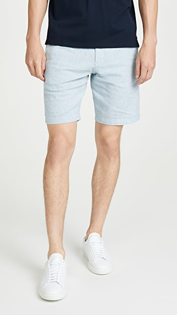 Club Monaco Maddox Chambray Shorts