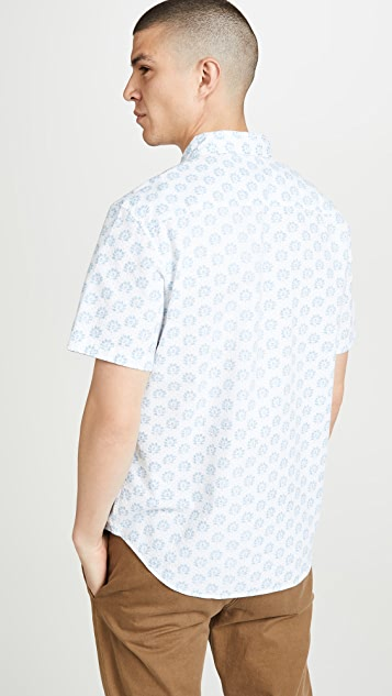 Club Monaco Sierra Floral Print Short Sleeve Shirt