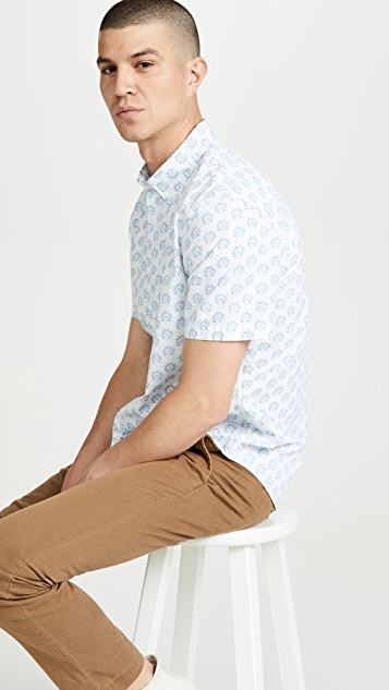 Club Monaco Sierra Floral Print Short Sleeve Shirt