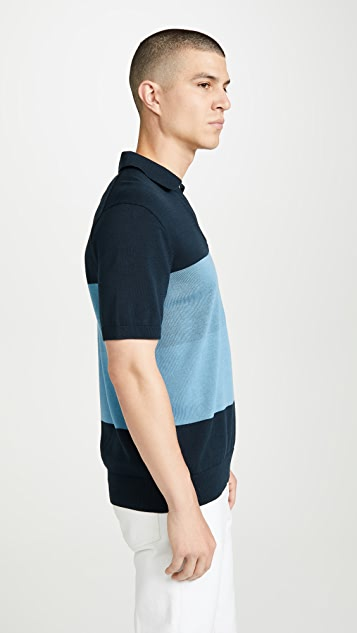 Club Monaco Plaited Johnny Collar Polo