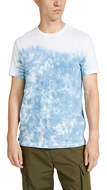 Club Monaco Dip Dye Print Short Sleeve Tee