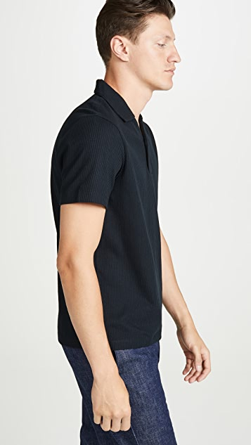 Club Monaco Split Neck Polo Shirt