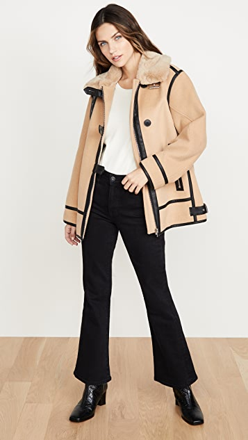Club Monaco Mixed Media Moto Jacket