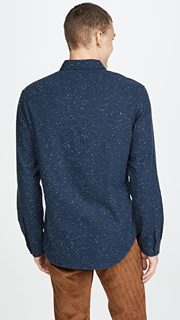 Club Monaco Solid Button Down Shirt