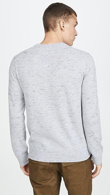 Club Monaco Cashmere Coverlock Crew Sweater