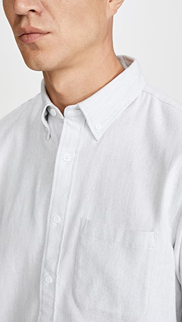 Club Monaco Long Sleeve Jaspe Button Down Shirt