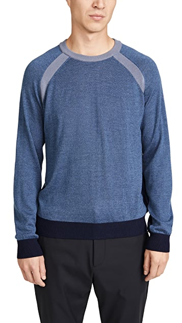 Club Monaco Partial Block Raglan Sweater