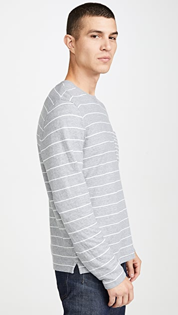 Club Monaco Duofold Pocket Crew Shirt