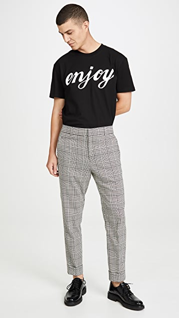 Club Monaco Drain Pipe Plaid Pants