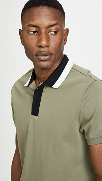 Club Monaco Blocked Collar Polo Shirt