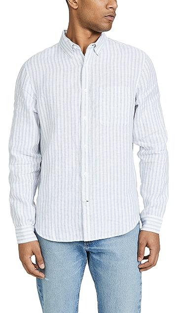 Club Monaco Long Sleeve Striped Shirt