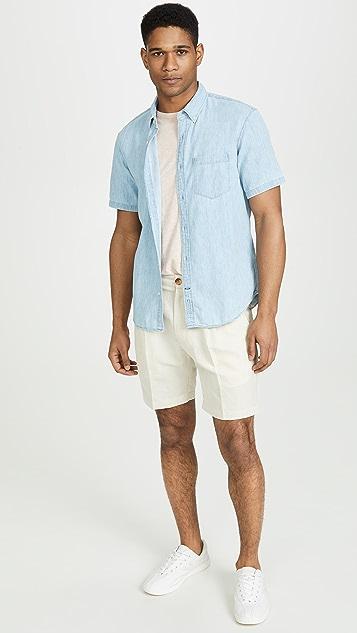 Club Monaco Short Sleeve Medium Wash Shirt