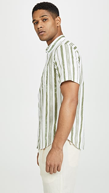Club Monaco Slim Short Sleeve Shirt