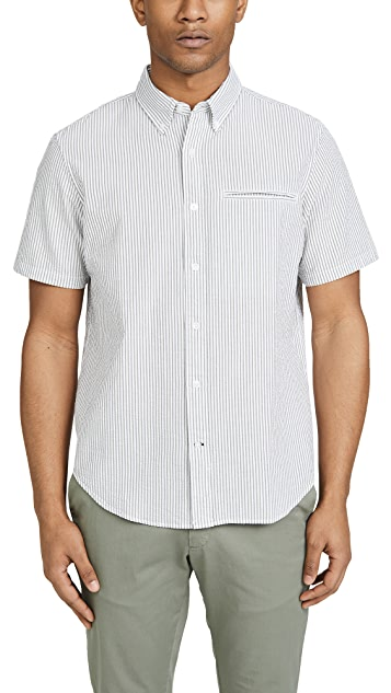 Club Monaco Short Sleeve Besom Pocket Shirt