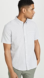 Club Monaco Short Sleeve Besom Pocket Shirt