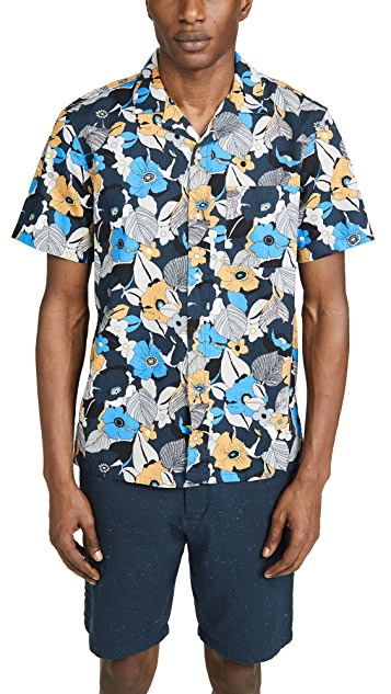 Club Monaco Short Sleeve Psychedelic Floral Shirt
