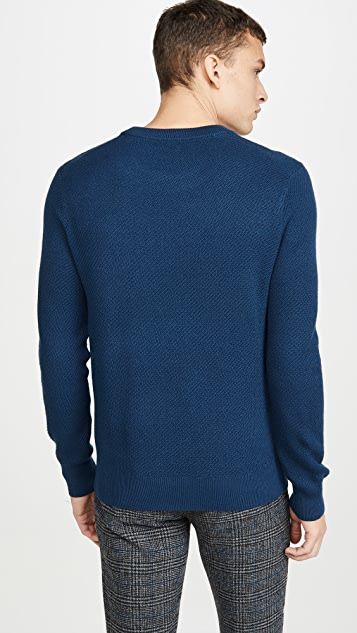 Club Monaco Textured Twill Crew Neck Sweater