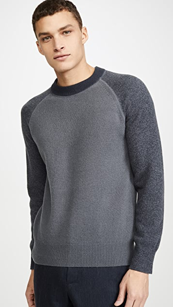 Club Monaco Garment Dyed Crew Neck Sweater