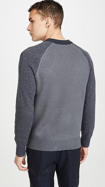Club Monaco Garment Dyed Crew Neck Sweater
