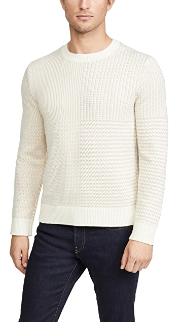 Club Monaco Cashmere Shadow Plaid Sweater