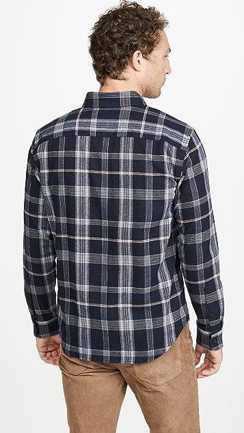 Club Monaco Pop Plaid Long Sleeve Shirt