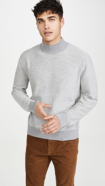 Club Monaco Cashmere Tracksuit Mock Sweater