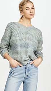 Club Monaco Watercolor Yarn Sweater