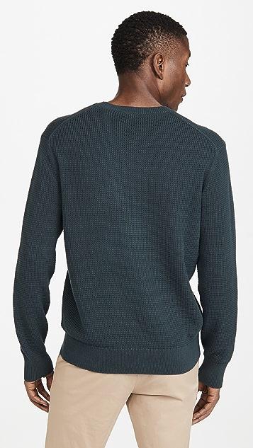 Club Monaco Waffle Stitch Crew Neck Sweater