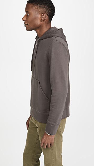 Club Monaco Pullover Quarter Zip Hoodie