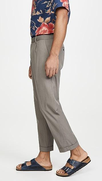 Club Monaco Pleated Cuff Trousers