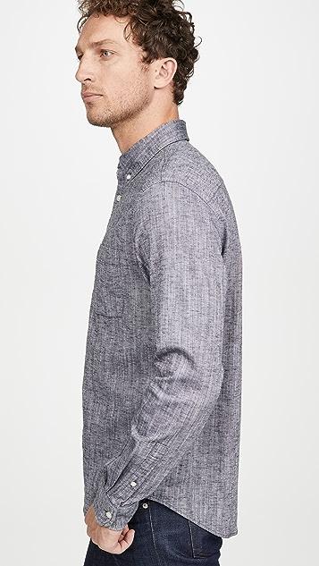 Club Monaco Long Sleeve Button Down Texture Shirt