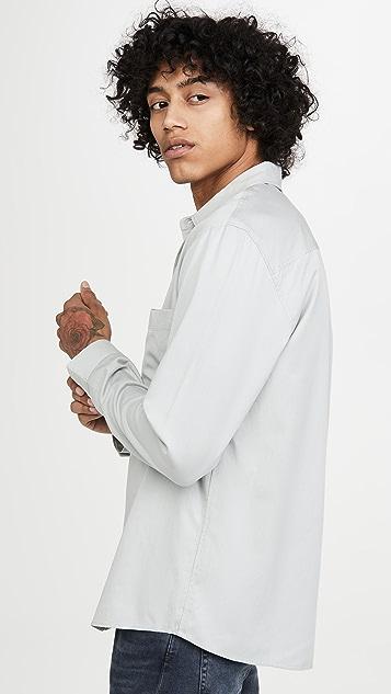 Club Monaco Long Sleeve Tencel Shirt