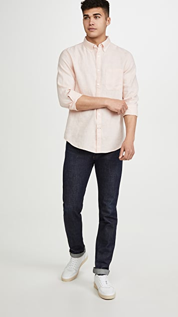 Club Monaco Long Sleeve Linen Shirt
