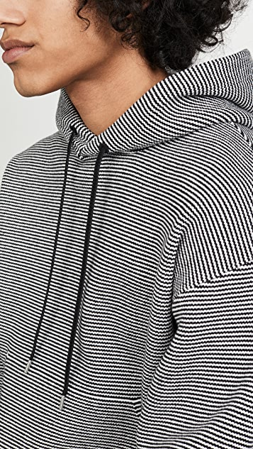 Club Monaco Striped Hoodie