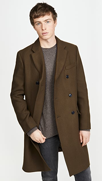 Club Monaco Double Breasted Coat