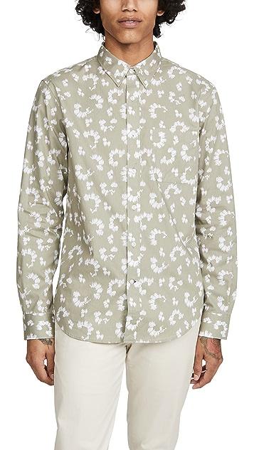Club Monaco Slim BD Textured Fleur Shirt